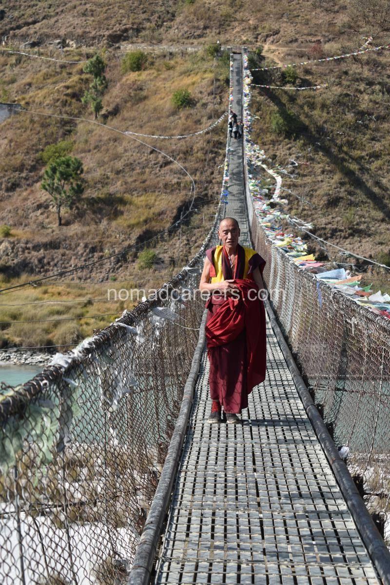 Suspension bridge, Punakha