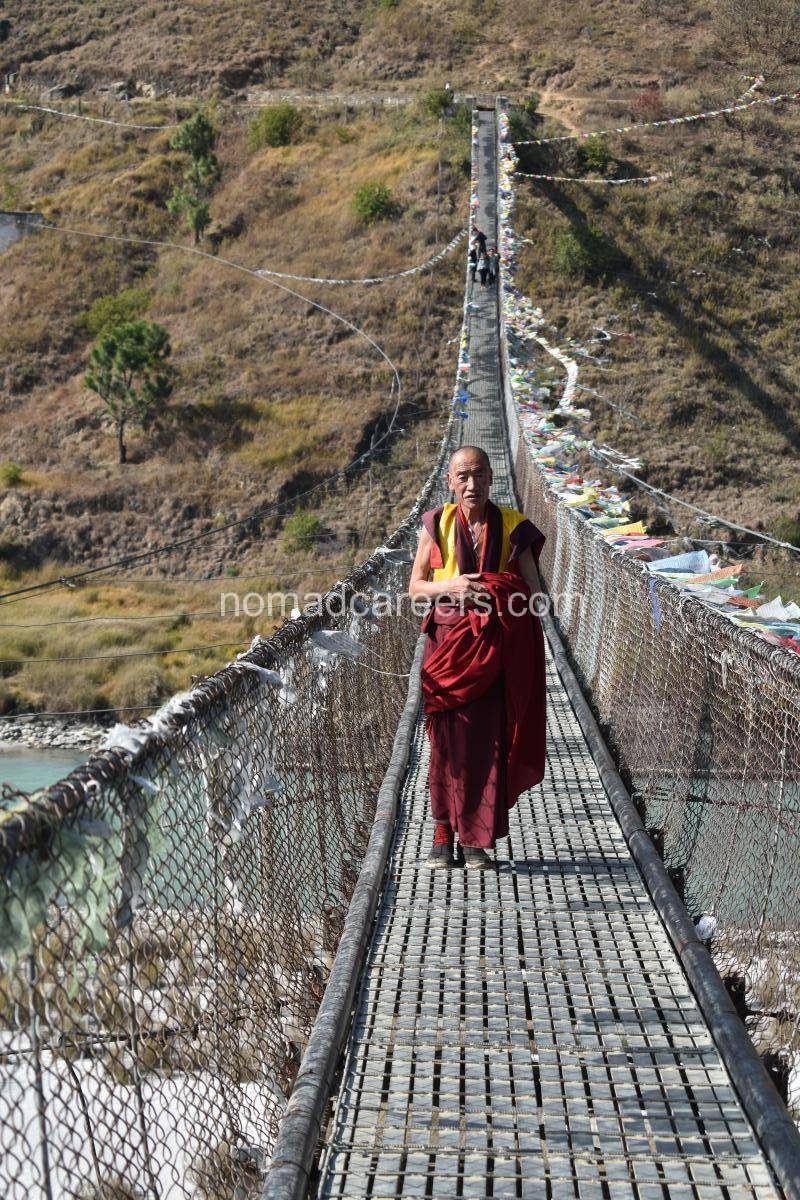 Suspension bridge, Punakha